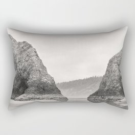 Tidal Pool Cannon Beach Oregon Coast Cave Forest Reflection Rocks Shoreline Nautical Northwest Pacif Rectangular Pillow