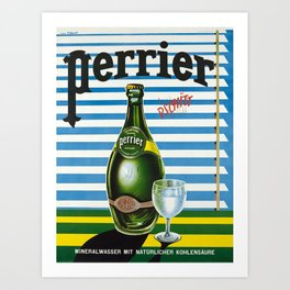 Advertisement perrier pschitt eau minerale Art Print