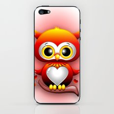 Baby Owl Love Heart Cartoon  iPhone & iPod Skin