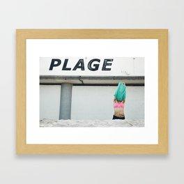 La Plage Framed Art Print