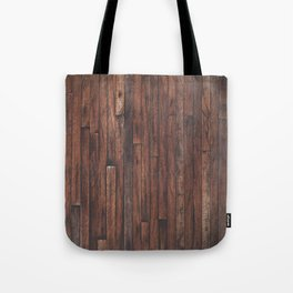 Cherry Stained Wood Barn Board Textue Tote Bag