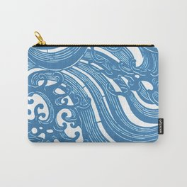 Stencil with Pattern of Waves,19th century Japan (Edited Blue) Carry-All Pouch