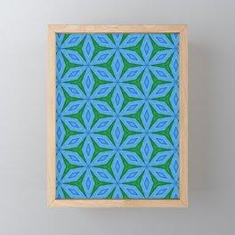 Cold Flowers Pattern Framed Mini Art Print