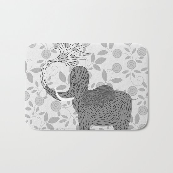 Happy Elephant Bath Mat
