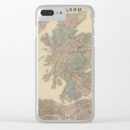 Old Map Of Scotland Clear iPhone Case