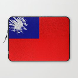 Extruded flag of Taiwan Laptop Sleeve