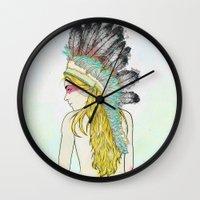 hunting Wall Clocks featuring Hunting // by Lukka