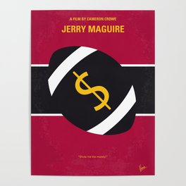 No838 My Jerry Maguire minimal movie poster Poster