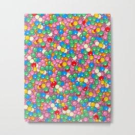 Bubble Gum Balls Juicy Tropical Fruity Metal Print