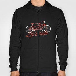 Let's Ride Tandem Bicycle - Red Hoody