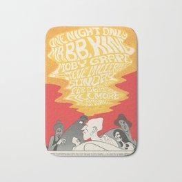 Retro Placard bb king moby grape steve miller Bath Mat