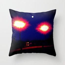Lights on a Bridge Throw Pillow