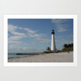 Cape Florida Light House Art Print