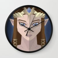 hyrule Wall Clocks featuring The Princess of Hyrule by John Mehrkens