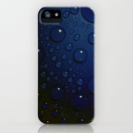 Midnight Blue to Stars in Droplets Polka Dots iPhone Case