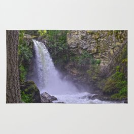 Summer Snow Melt - Waterfall & Forest Rug