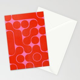 Abstract mid-century shapes no 6 Stationery Cards