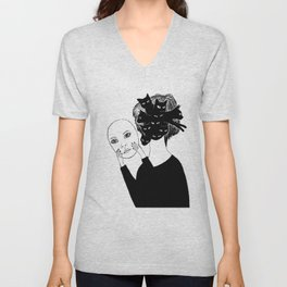 Crazy cat lady Unisex V-Neck