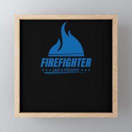 Firefighter Framed Mini Art Print