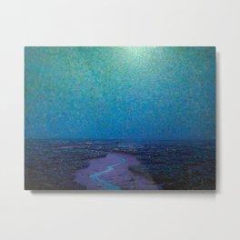 Granville Redmond Nocturnal Marsh Oil Painting American Art Metal Print