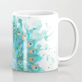Watercolor Peacock Coffee Mug