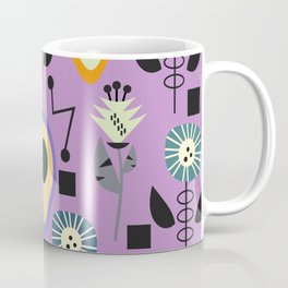 Mid-century flowers with avocados Coffee Mug