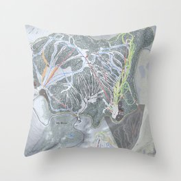 Mt Rose Resort Trail Map Throw Pillow