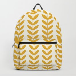 Scandinavian Mid Century Pattern Yellow Backpack