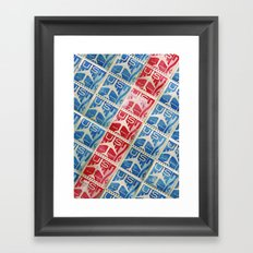 Vintage Postage Stamp Collection - 03 (airmail diagonal) Framed Art Print