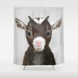 Baby Goat - Colorful Shower Curtain