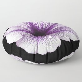 Purple and White Petunia Flower 998 Floor Pillow