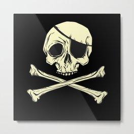 Pirate Flag Best Gift Metal Print
