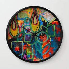 Magical Garden - by Toni Wright Wall Clock