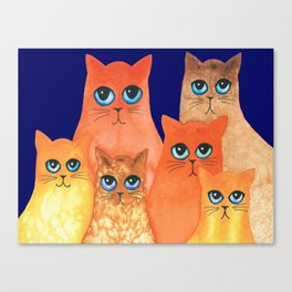 Annapolis Whimsical Cats Canvas Print