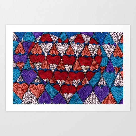 Op Heart Art Print