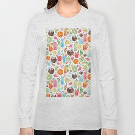 Summer Fruit Cocktail Long Sleeve T-shirt
