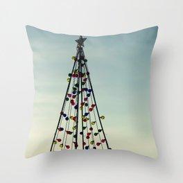 Nautical Christmas Throw Pillow