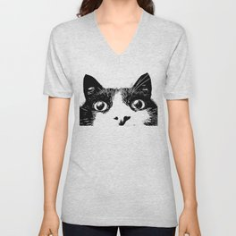 pussycat cat Unisex V-Neck