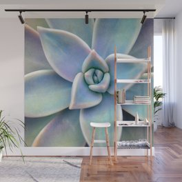 Pastel Succulent Wall Mural