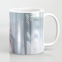 lost in translation Mugs featuring Lost In Translation by Slava Bowman