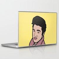 elvis presley Laptop & iPad Skins featuring Elvis Presley by agr_artwork