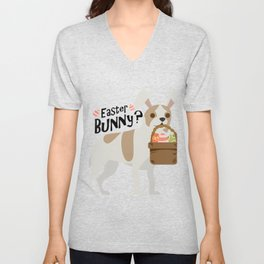 Chihuahua Easter Funny for Boys Girls Love Dog Puppy Unisex V-Neck