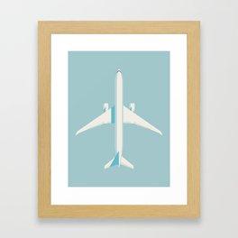 777 Passenger Jet Airliner - Sky Framed Art Print
