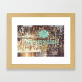 Confectionary Windo Shopping Framed Art Print