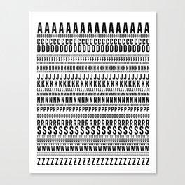 ALPHABETS//ONE Canvas Print