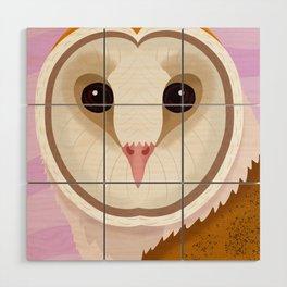 Barn Owl Wood Wall Art