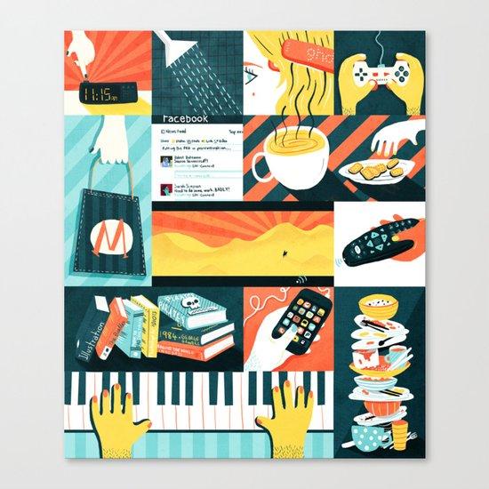 Procrastination Canvas Print