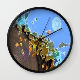 Fleeing Krypton  Wall Clock
