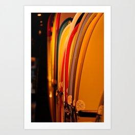 The Surfboard Line Up - Oahu, Hawaii Art Print
