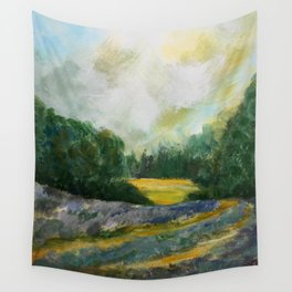 Lavender Field Wall Tapestry